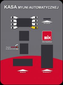 Kasa myjni automatycznej - schemat